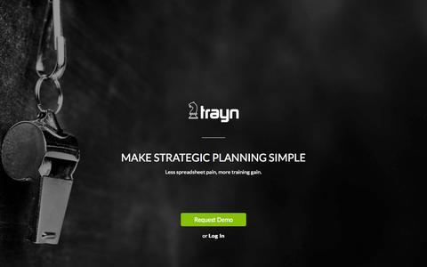 Screenshot of Home Page trayn.com - Trayn - captured Aug. 14, 2015