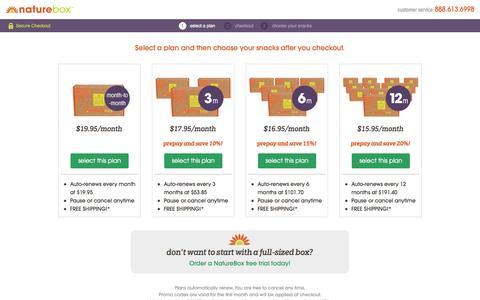 Screenshot of Signup Page naturebox.com - Sign Up For NatureBox - captured Sept. 29, 2014