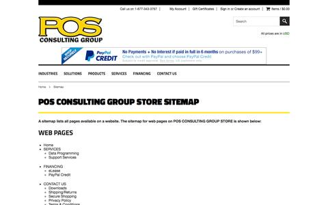 Screenshot of Site Map Page posconsultinggroup.com - POS CONSULTING GROUP STORE Sitemap - captured Oct. 1, 2014