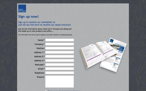 Screenshot of Signup Page carlfgroupco.co.uk captured Oct. 1, 2014
