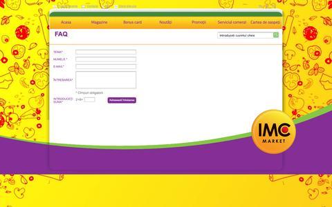 Screenshot of FAQ Page imc.md - Faq - captured Oct. 3, 2014