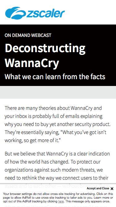Deconstructing WannaCry   Zscaler