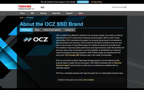 Screenshot of About Page ocz.com - About OCZ SSD Brand - captured March 30, 2017