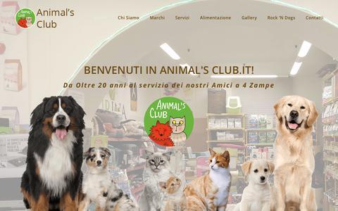 Screenshot of Home Page animalsclub.it - Animal's Club Trieste – Animal's Club - captured Nov. 30, 2018