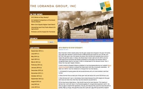 Screenshot of Blog loranda.com - Loranda Market Update   The Loranda Group Market Update regularly provides you with important industry news and market movements as they happen. - captured Oct. 6, 2014