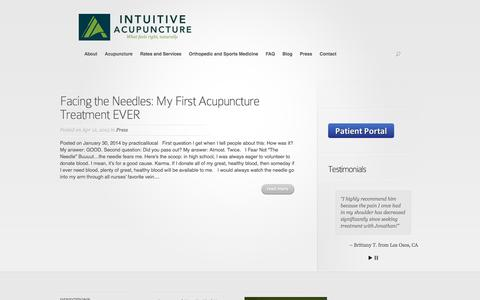 Screenshot of Press Page intuitive-acupuncture.com - Press - Intuitive Acupuncture - captured June 8, 2017