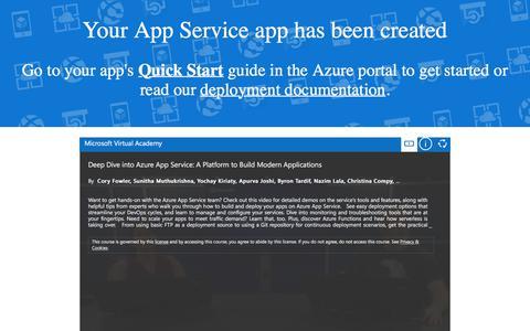 Microsoft Azure App Service - Welcome
