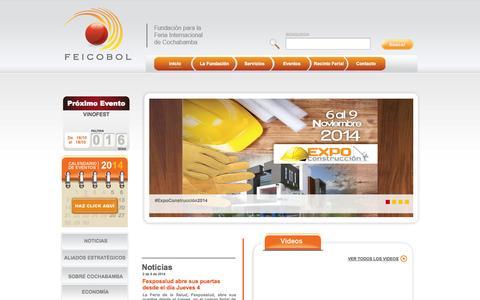 Screenshot of Home Page feicobol.com.bo - Inicio - Fundación para la Feria Internacional de Cochabamba - captured Sept. 30, 2014