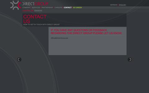Screenshot of Contact Page direct-group.com - Directgroup - Contact us - captured Oct. 5, 2014
