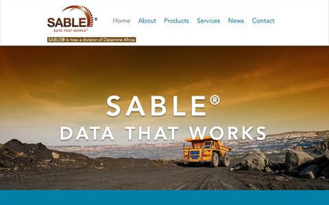 Screenshot of Home Page sable.co.za - Sable - captured Nov. 11, 2018
