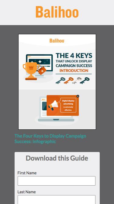The Four Keys to Display Campaign Success