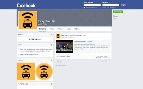 Screenshot of Facebook Page facebook.com - Easy Taxi | Facebook - captured Oct. 22, 2014