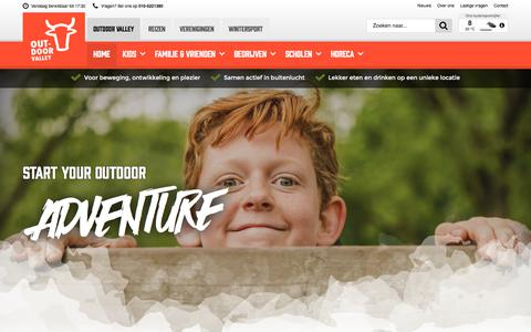 Screenshot of Home Page outdoorvalley.nl - Start your outdoor adventure! | Outdoor Valley - captured Sept. 20, 2018