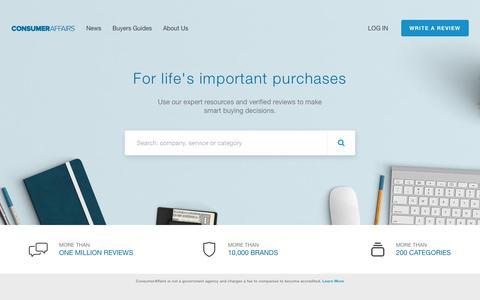 ConsumerAffairs.com: Research. Review. Resolve.