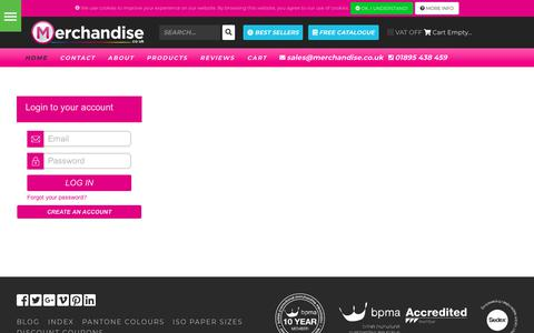 Screenshot of Login Page merchandise.co.uk - Merchandise Ltd - Merchandise Ltd - captured Sept. 30, 2018