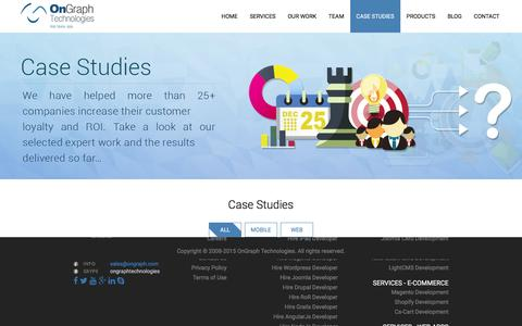 Screenshot of Case Studies Page ongraph.com - Mobile Apps Development Company India | OnGraph Technologies - captured Nov. 25, 2015