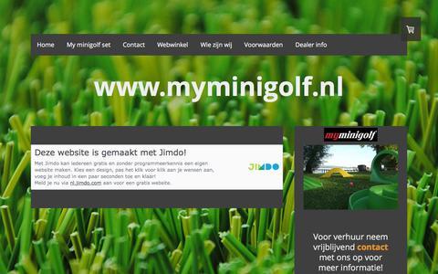 Screenshot of About Page myminigolf.nl - Juridische informatie - De website van myminigolf! - captured Feb. 26, 2016