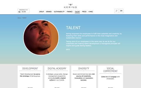Talent | Kering