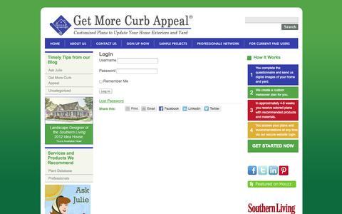 Screenshot of Login Page getmorecurbappeal.com - Login «  Get More Curb Appeal - captured Sept. 29, 2014