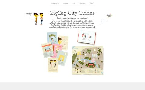 Screenshot of About Page bigcartel.com - About / ZigZag City Guides - captured Sept. 19, 2014