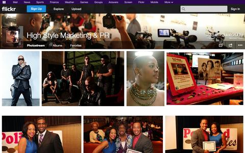 Screenshot of Flickr Page flickr.com - Flickr: High Style Marketing & PR's Photostream - captured Oct. 22, 2014
