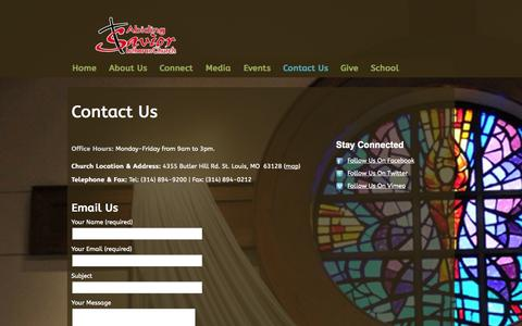 Screenshot of Contact Page knowthesavior.org - Contact Us «  Abiding Savior… To Know Christ To Make Him Known - captured Oct. 4, 2014