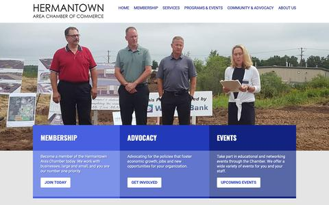 Screenshot of Home Page hermantownchamber.com - Hermantown Area Chamber of Commerce - Supporting business and community - captured Sept. 28, 2018