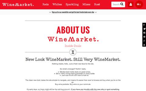 Screenshot of About Page winemarket.com.au - About WineMarket | WineMarket - captured Dec. 5, 2016