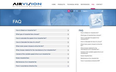 Screenshot of FAQ Page airvision.be - Airvision  FAQ - captured July 23, 2016