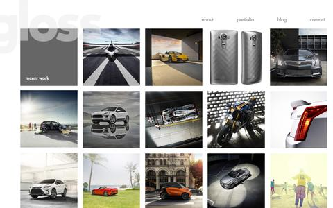 Screenshot of Home Page gloss-postproduction.com - gloss-postproduction.com - captured Sept. 16, 2015