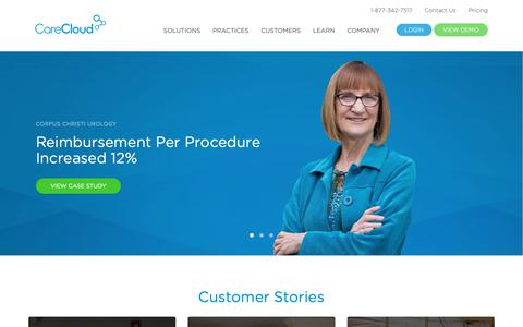 Screenshot of Case Studies Page carecloud.com - Customers Archive - CareCloud - captured Nov. 7, 2018