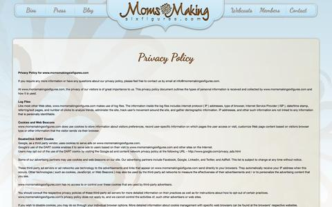 Screenshot of Privacy Page momsmakingsixfigures.com - Privacy Policy - Moms Making Six Figures - captured Sept. 24, 2014