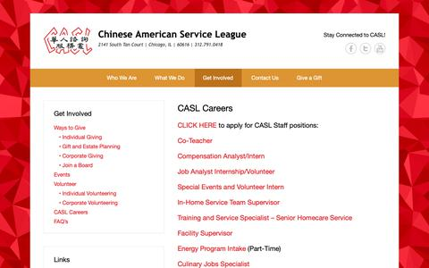 Screenshot of Jobs Page caslservice.org - CASL Careers | Chinese American Service League - captured Sept. 27, 2018