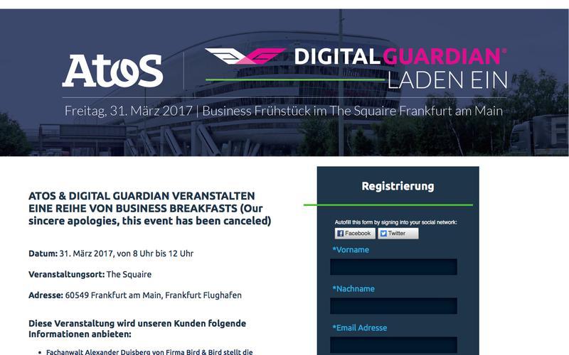 Atos & Digital Guardian Executive Briefing Germany