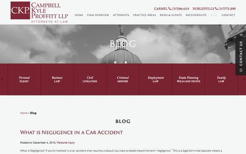 Screenshot of Blog ckplaw.com - Carmel Family Law Attorney | Noblesville Criminal Defense Lawyer - captured Jan. 25, 2016