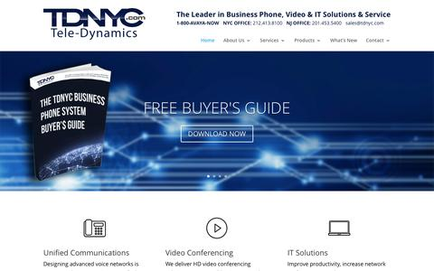 Screenshot of Home Page tdnyc.com - Home | Unified Communications company TDNYC - captured Dec. 4, 2016