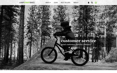 Screenshot of Support Page jumpstartbikes.com - Customer Service | JUMPSTARTBIKES - captured Sept. 20, 2018