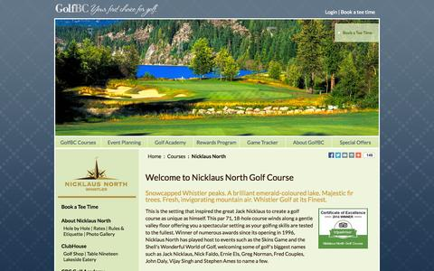 Screenshot of Testimonials Page nicklausnorth.com - GolfBC Testimonials - Golf Course Owners & Operators in British Columbia and Hawaii - captured Oct. 26, 2014