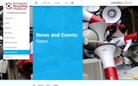 Screenshot of Press Page erp-recycling.org - News Archives • ERP Global - captured Aug. 29, 2017