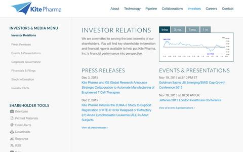 Kite Pharma, Inc. | Investor Relations