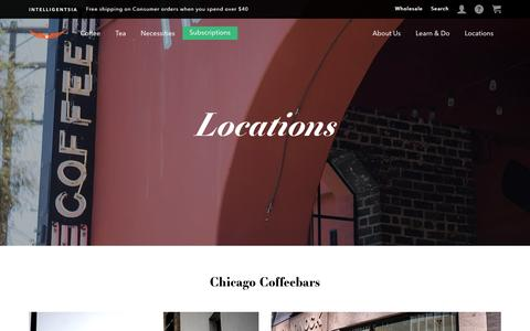 Screenshot of Locations Page intelligentsiacoffee.com - Locations | Intelligentsia Coffee - captured Dec. 9, 2016