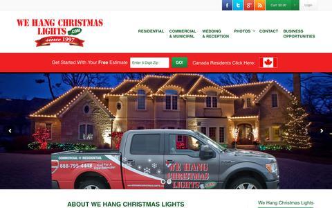 Screenshot of About Page wehangchristmaslights.com - We Hang Christmas Lights - About Us - captured Nov. 7, 2017