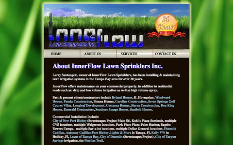 Screenshot of About Page innerflowlawnsprinklers.com - Home Irrigation Systems - New Port Richey, FL - InnerFlow - captured April 5, 2016
