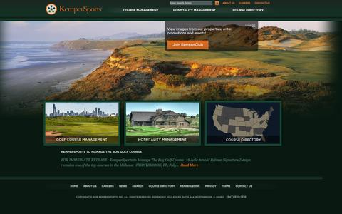 Screenshot of Home Page kempersports.com - Golf Course Management Company | Hospitality Management Company | KemperSports - captured Jan. 28, 2016