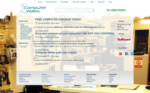 Screenshot of Blog computerwales.co.uk - Computer, Laptop and PC Repair in Cardiff - captured Sept. 30, 2014