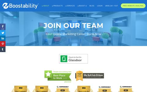 Screenshot of Jobs Page boostability.com - Join Our Team | Jobs at Boostability - captured Dec. 5, 2018