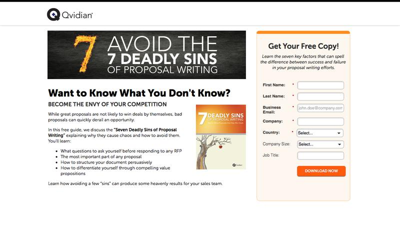 The 7 Deadly Sins of Proposal Writing by Dr. Tom Sant | Qvidian