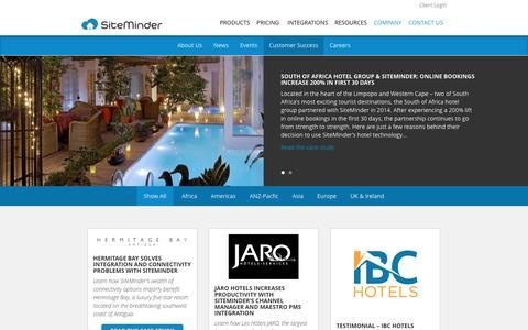 Screenshot of Testimonials Page siteminder.com - Customer Success - SiteMinder - captured Dec. 7, 2016