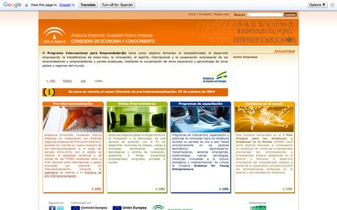 Screenshot of Home Page iemprendedores.es - Programa Internacional para Emprendedor@s Programa Internacional para emprendedores y emprendedoras - captured Sept. 11, 2015