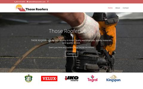 Screenshot of Home Page thoseroofers.com - Those Roofers Cork - Roof and Roofing Repair - captured Sept. 21, 2018